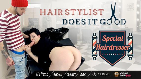 Hair stylist does it good