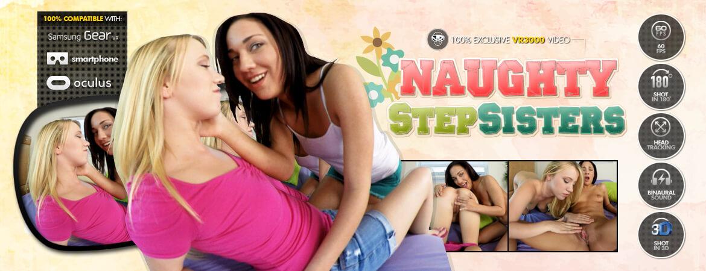 Naughty Step Sisters VR Porn